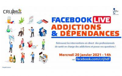 FACEBOOK live spécial «Addictions et Dépendances»